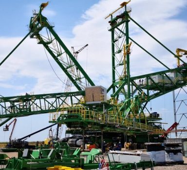 Bucket wheel excavator RS2000 construction – Maritza Iztok Mines